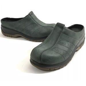 DANSKO Green Clogs Shoes Women Sz 38 Slip On Mules